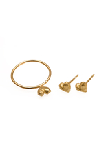 LITTLE HEART, Ring, Ohrstecker, 18 ct Gelbgold